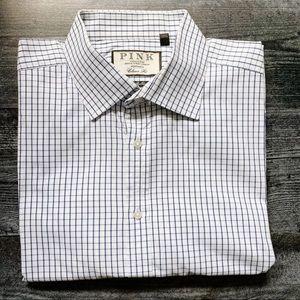 "Thomas Pink Classic Fit ""Bulldog"" Shirt- 17/35"